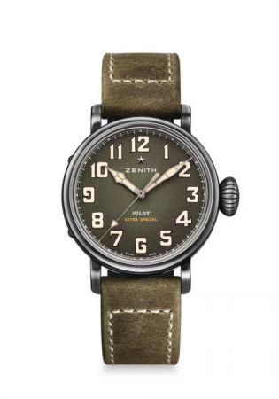 Pilot Type 20 Extra Special 腕錶,直徑 40mm 仿古精鋼材質,自動機芯,Zenith。
