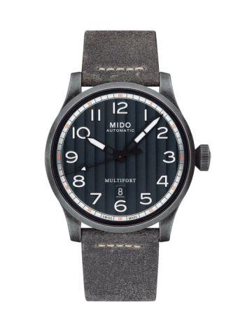 Multifort Escape 先鋒系列 1947 復刻腕錶,直徑 44mm 仿古精鋼材質,自動機芯,Mido。