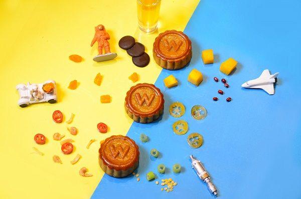 台北W飯店2017「跳月餅禮盒」內含3種口味各2顆