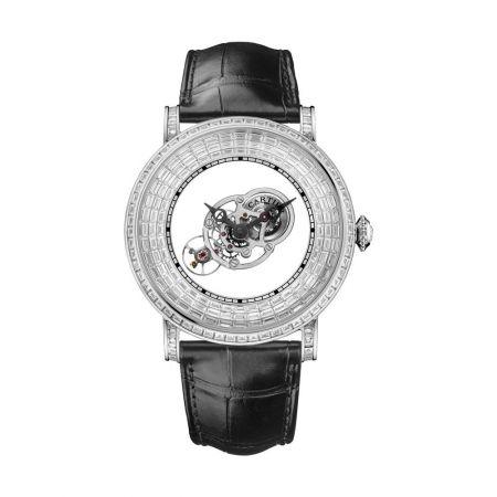 林志穎配戴Rotonde Astromysterieux 天體運轉式神秘陀飛輪梯形切割鑽石腕錶
