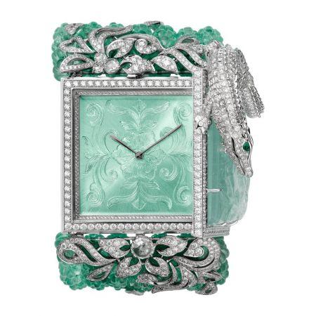 卡地亞頂級珠寶系列鱷魚裝飾神秘錶