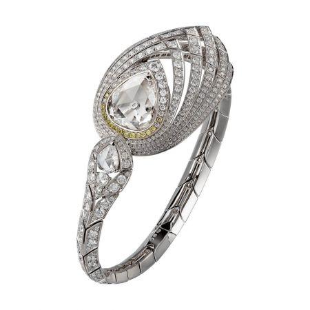 卡地亞頂級珠寶系列Pure Swan小時顯示腕錶