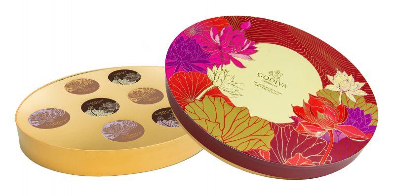GODIVA中秋節巧克力蛋糕月餅禮盒8顆裝NT$1950