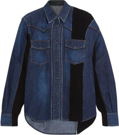 靛藍丹寧拼接外套,Sacai @ Net - A- Porter,約NT28,182。