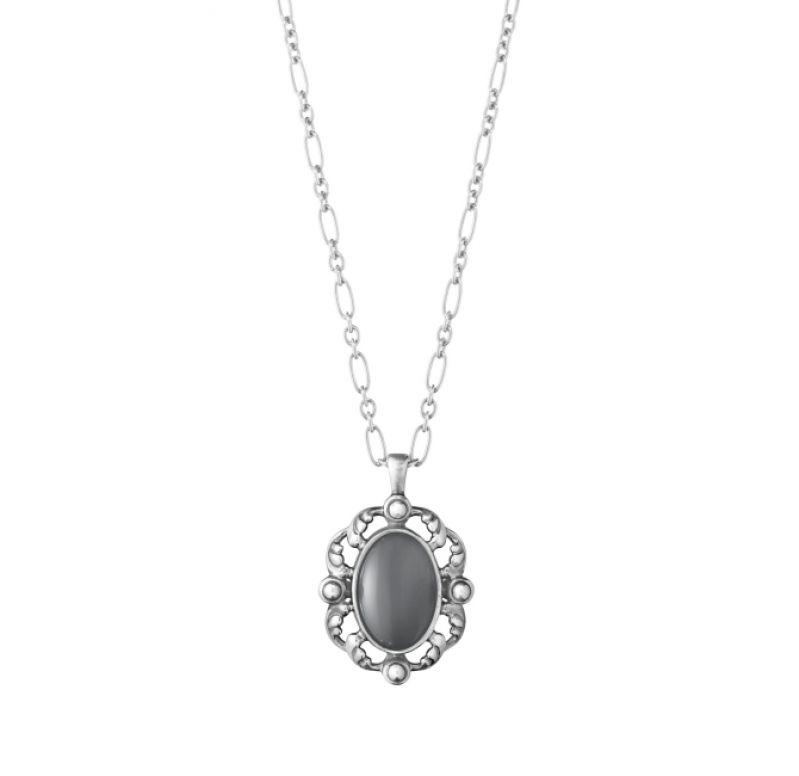 GEORG JENSEN_2018年度紀念純銀灰月石項鍊(亞洲限量)_建議售價NT11,500