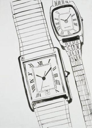 為1985年,安迪‧沃荷的原始手繪坦克腕錶圖。© The Andy Warhol Foundation for the Visual Arts, Inc.