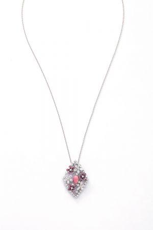 MIKIMOTO 高級珠寶孔克真珠彩寶鑽石墜鍊,800,000元