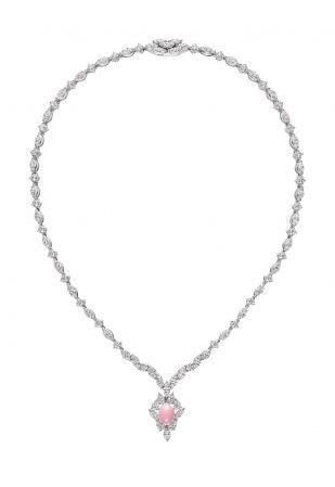 MIKIMOTO 頂級珠寶孔克真珠鑽石墜鍊,5,500,000元
