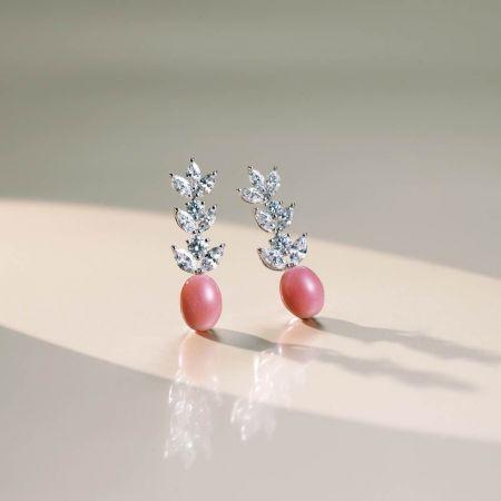 MIKIMOTO 頂級珠寶孔克真珠鑽石耳環,3,450,000元