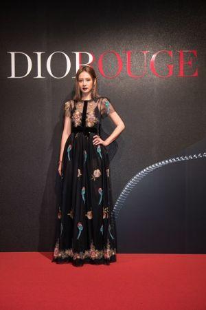 超人氣女星安心亞出席Dior For Love搖滾你的唇派對。