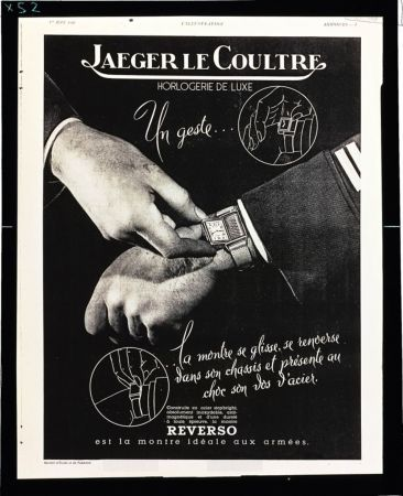 Jaeger-LeCoultre 首張 Reverso 翻轉腕錶的廣告