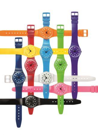 Swatch 於2010年推出價格僅50瑞郎的 Color Code 系列,紀念八〇年代以同樣標價聞名的 Original Gent 腕錶