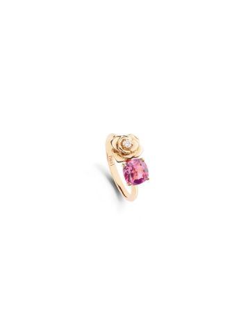 粉紅碧璽與鑽石戒指,Piaget。