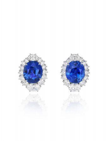 藍寶石鑽石耳環,Chopard。