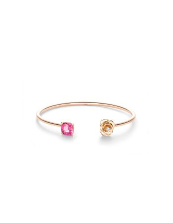 粉紅碧璽與鑽石手鐲,Piaget。