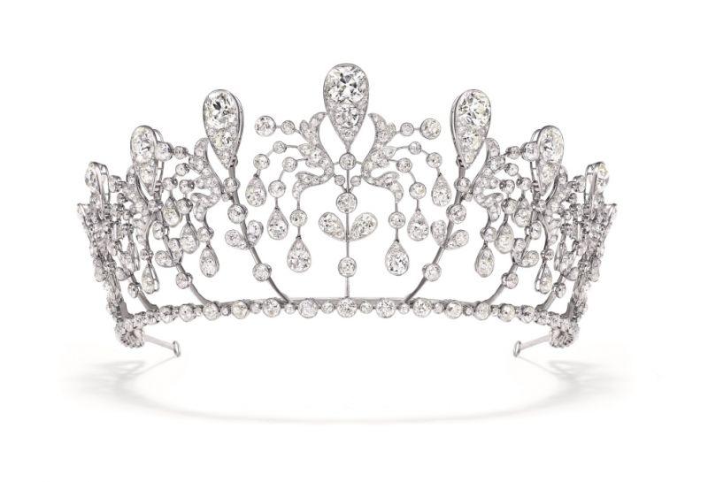 1919年 「波旁帕爾瑪」金鐘花冠冕, 由Joseph Chaumet打造。