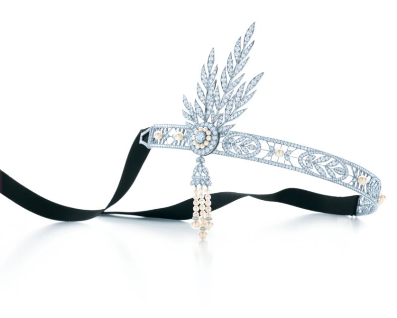 The Great Gatsby系列鑽石和珍珠頭飾,Tiffany & Co.。