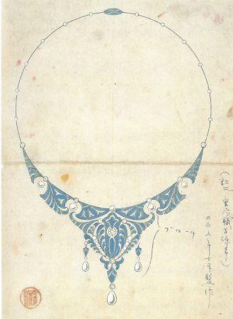 1916年,MIKIMOTO 創作的一件鉑金珍珠鑽石項鍊,並可轉換為冠冕配戴。