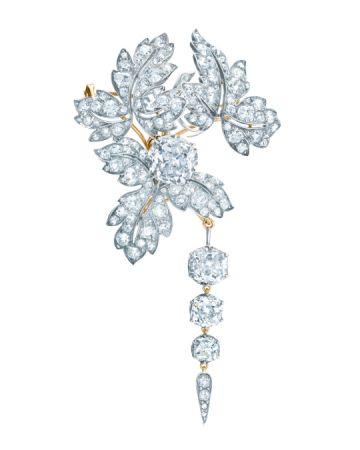 Tiffany & Co. 專為法國皇室拿破崙三世的妻子尤珍妮皇后打造鑽石胸針。