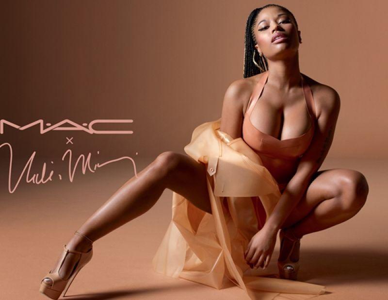 M.A.C X Nicki Minaj聯名輕土色系列形象圖。