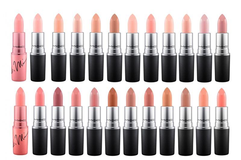 M.A.C X Nicki Minaj聯名輕土色系列全系列唇膏單品。
