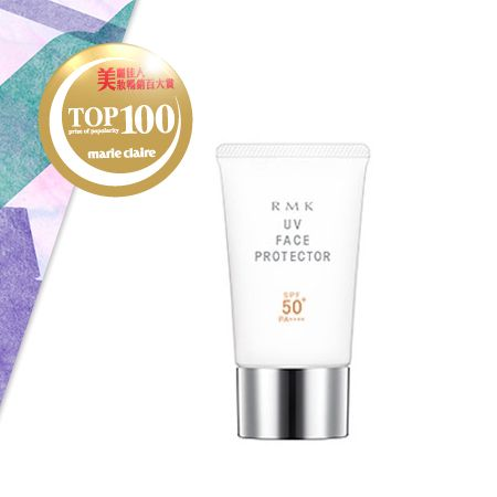RMKUV防護乳 SPF50+,PA++++ NT$1,000具有水潤舒適觸感及防水處方的防曬商品,防護力加強升級版。添加全新AD粉體,能防禦會穿透室內玻璃造成肌膚深處受損的UVA以及引起發炎和黑斑等肌膚損害的UVB。