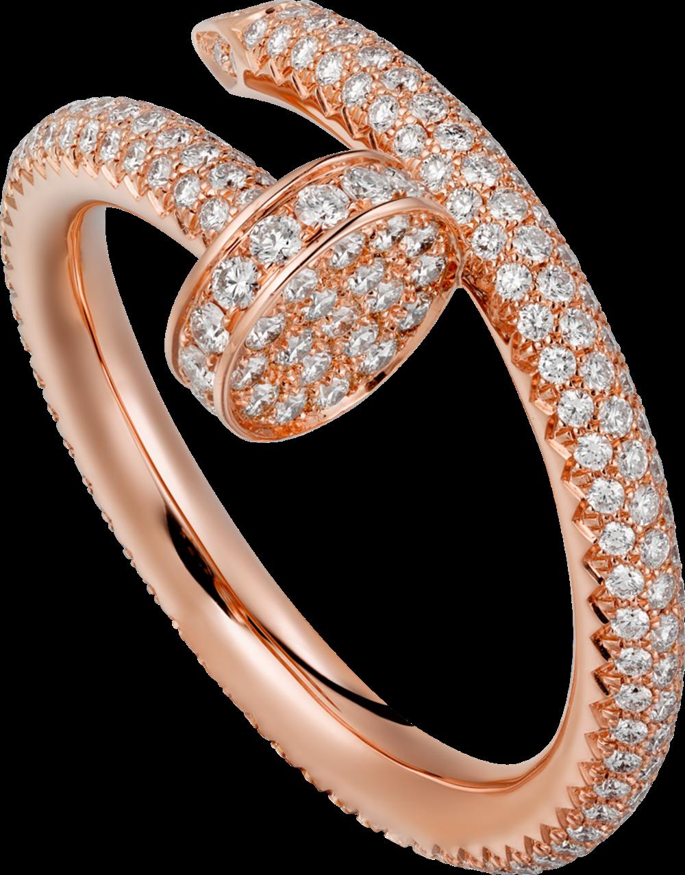 Juste un Clou玫瑰金鋪鑲鑽戒指玫瑰K金,鋪鑲鑽石,參考價格約NT$ 402,000另有白K金款