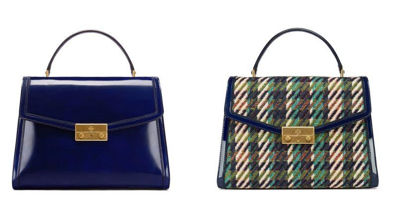 JULIETTE藍色手提包($25,900)及格子花呢手提包($26,900)