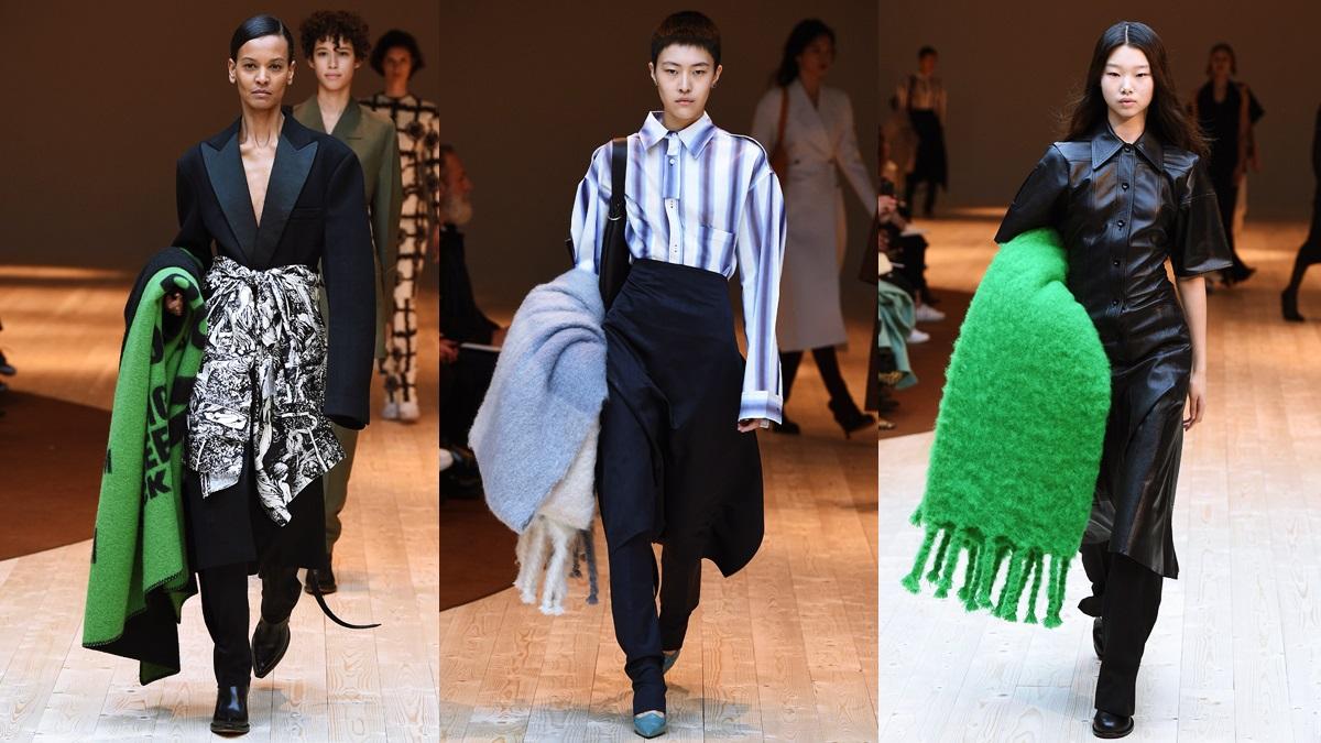 秋冬學CÉLINE設計總監這樣穿!就是要繞條oversize毯子出門才拉風