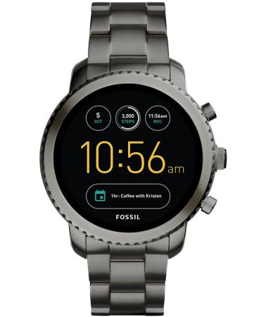 Q Explorist觸控式螢幕智慧型腕錶 煙灰色不鏽鋼錶帶 NT11,300(FTW4001)
