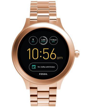Q Venture觸控式螢幕智慧型腕錶 玫瑰金不鏽鋼錶帶 NT11,300(FTW6000)