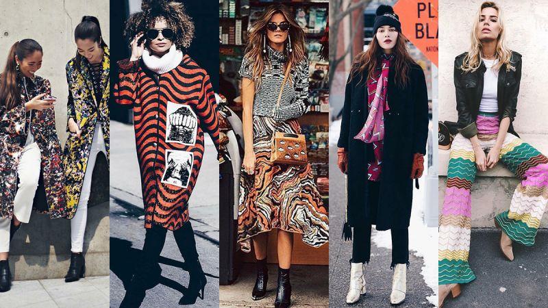 看看IG上時髦女孩們穿搭秋冬的新裝,原來用大膽的色彩圖紋更能成為街拍亮點!