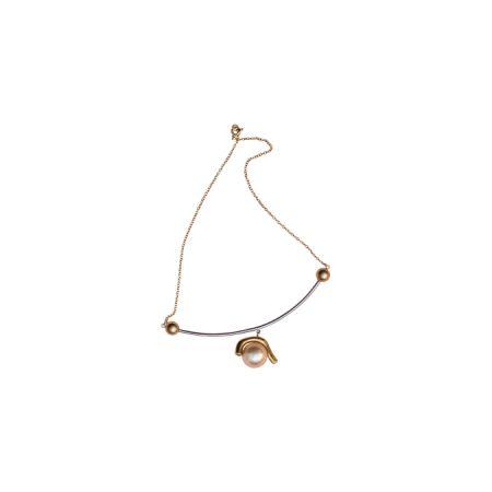 珍珠金銀雙色項鍊,CÉLINE,NT21,000。