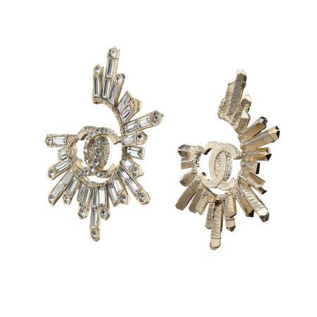 Logo 水晶柱立體耳環,Chanel,NT29,400。