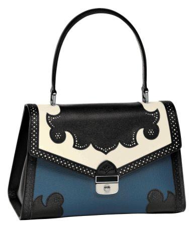 巴洛克飾邊皮革手提包,Longchamp,NT36,300。