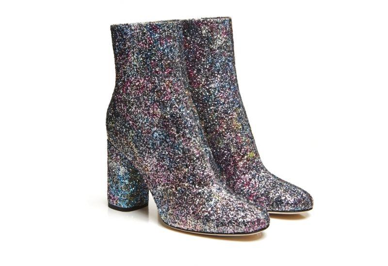 混色亮粉高跟短靴,M Missoni,NT20,800。