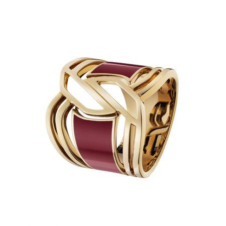 """My Red""戒指以18K黃金及紅色的HyCeram*打造而成。建議售價NTD251,000元"