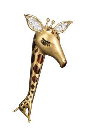 Giraffe 胸針,1964年。