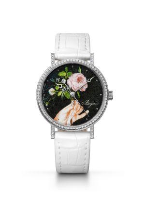 Classique 系列腕錶,琺瑯微繪與點描工藝面盤,Breguet。