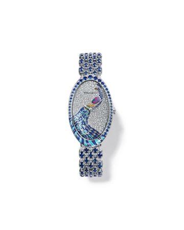 Blue Book 系列腕錶,大明火琺瑯與雪花鑲嵌工藝面盤,Tiffany & Co.。