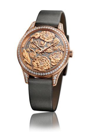 L.U.C XP Esprit de Fleurier Peony腕錶,雕刻工藝面盤,Chopard。