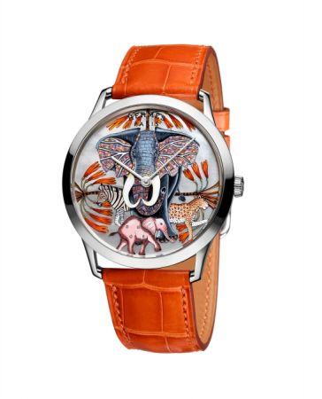 La Marche du Zambèze 腕錶,微繪工藝面盤,Hermès。