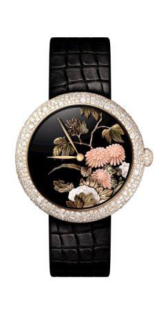 Mademoiselle Privè 腕錶,寶石雕刻及微型金雕工藝面盤,Chanel。