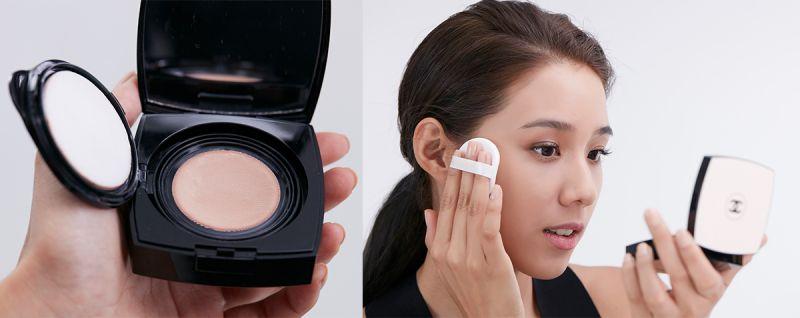 安安的蜜桃果凍肌STEP 2::時尚裸光果凍粉餅接力,加倍保濕,隨身補光