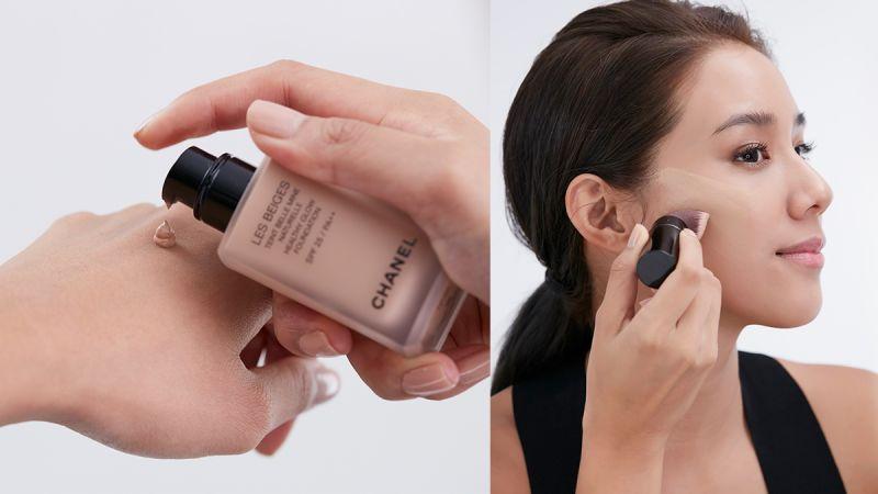 安安的蜜桃果凍肌STEP1:時尚裸光水慕絲粉底,有光感沒妝感,輕透無瑕