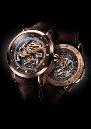 Christophe Claret Soprano音樂報時陀飛輪玫瑰金腕錶,建議售價NT17,600,000。