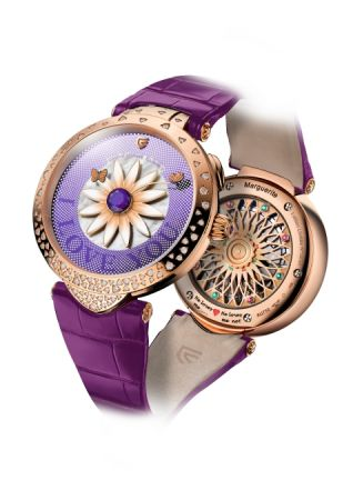 Christophe Claret Marguerite 玫瑰金腕錶2017新款,建議售價NT2,360,000。
