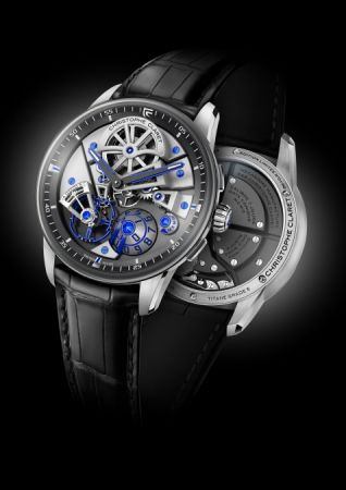 Christophe Claret Maestro鈦金屬腕錶,建議售價NT2,480,000。