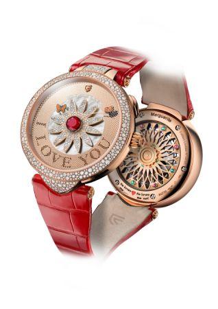 Christophe Claret Marguerite 玫瑰金腕錶2017新款,建議售價NT2,980,000。