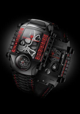 Christophe Claret X-Trem-1 StingHD限量版腕錶,對腕錶呼氣鏡面會出現骷髏圖騰。